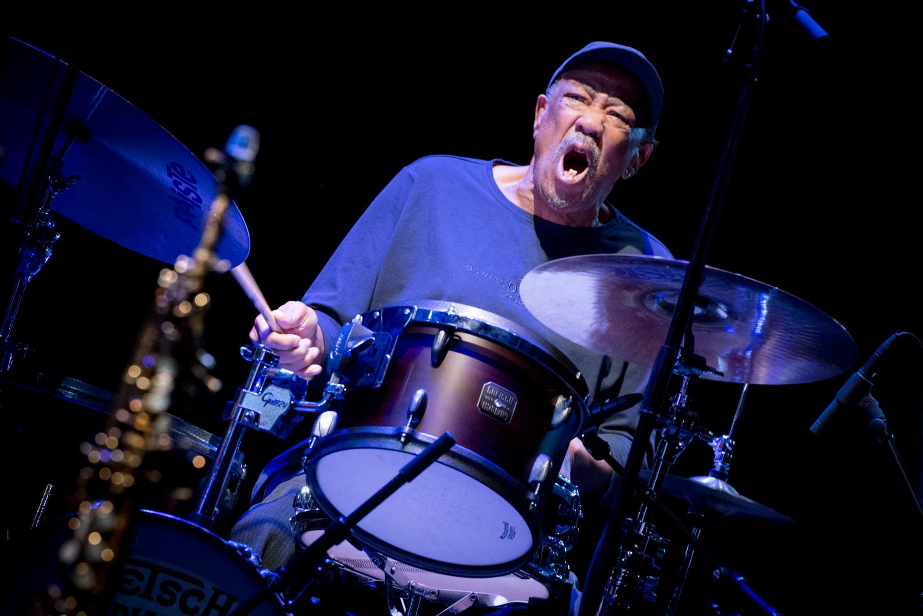 Louis Moholo-Moholo Quartet. 51. Jazzfest Berlin. Foto: Petra Basche Petra Basche